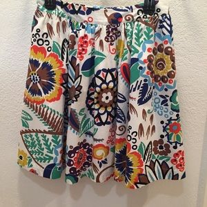 Boden abstract floral skirt